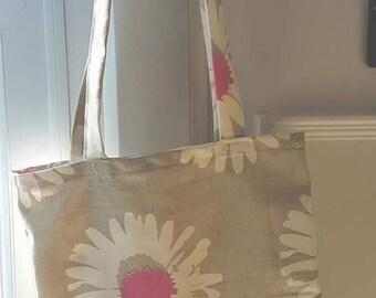 daisy, gerbera tote bag, shopping bag, beach bag book bag