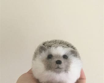 Needle Felted Hedgehog,Felted Animal,Handmade
