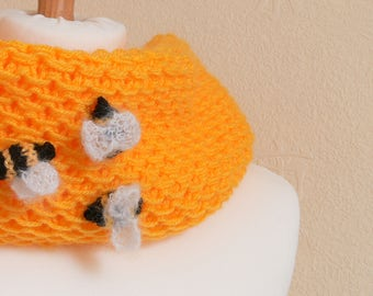 Yellow Bumble Chunky Snood Neck Warmer - Great For Everyday Use- Charity Listing - Ideal For Spring
