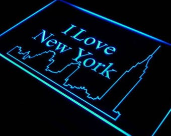 I Love New York Art Flag New York Artwork New York City Souvenir Skyline Furniture New York City Skyline Wall Decoration Decal Gift Novelty