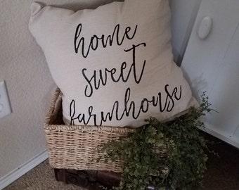 Home Sweet Farmhouse Pillow Cover