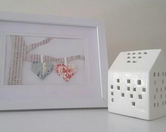 Origami Heart Wall Art, Origami Wall Art, Origami Heart, Origami Art, Wall Art, Paper Art, Paper Decor, Origami Decor, Gift, Valentine's day
