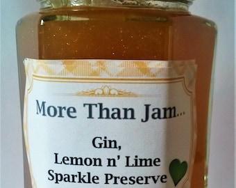 Homemade Gin, Lemon & Lime Sparkle Preserve 215g Gift Mum Love Handmade Artisan Jam
