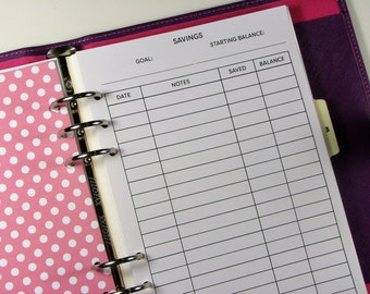 Savings Tracker Bullet Journal Jar Bank Printable Pdf Template