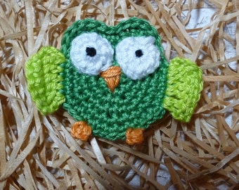 Crochet: OWL in shades of green