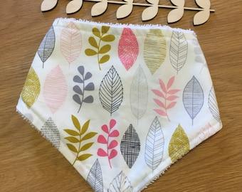 Leaf print - Bandana bib - Dribble bib