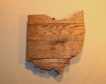 Ohio Wall Art ohio home reclaimed wood sign ohio map sign buckeye sign