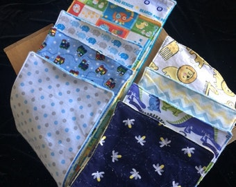 Burp Cloth Flannel Cotton/Terry Cloth for Baby Boys