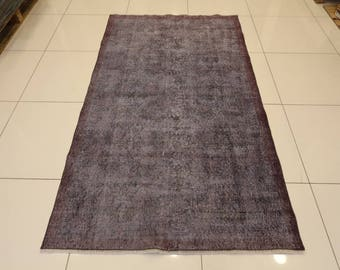 Overdyed handmade rug,216X122 cm, 7'x4' ft, Vintage floor carpet,Modern vintage carpet,Luxury decor,bohemian rug,
