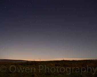 Astro photography of stars on an early morning sky, landscape photography, night sky, wallpaper, background, desktop, digital download
