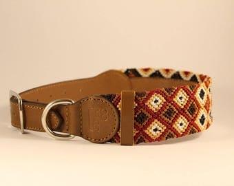 Bo Knitted Dog Collar (L)