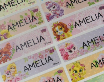 Disney Princess Pet, personalized sticker, name label waterproof, Name tag sticker, vinyl labels, dishwasher safe labels, Name labels, LARGE