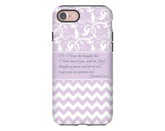Christian iPhone 7 case, Jeremiah 29:11 iPhone 7 case/7 Plus case, bible verse iPhone case, scripture iPhone case, Christian iPhone cover