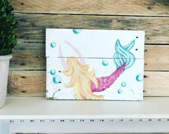 Pretty Little Mermaid Pallet Art