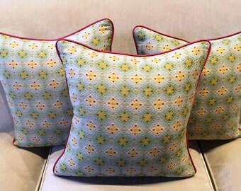 Jane Shelton Labury woven fabric covered cushion