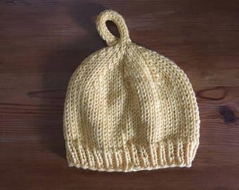 Baby Lemon Hat // Newborn // Yellow
