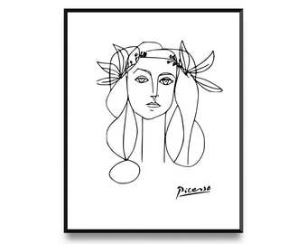 Picasso, Picasso Print, Pablo Picasso, Pablo Picasso Art, Fine Art Print, Picasso Art, Picasso Sketch, Printable Art, Art Prints