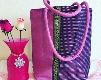Tote Fabric Bag In Pink