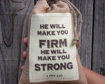JW Gift Bags - He will make you firm, He will make you strong bag