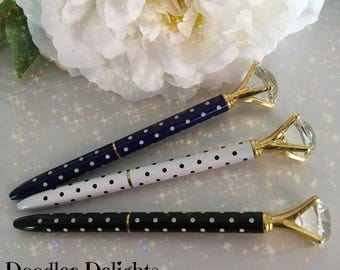 Diamond Pen, polka dot diamond pen,