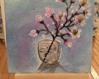 Small Acrylic Painting - Cherry Blossom