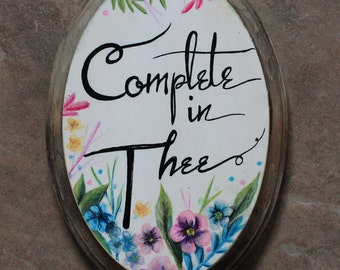 Small Wood Plaque - Complete in Thee