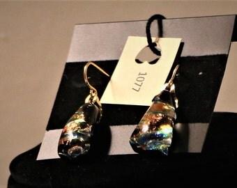 Dichroic earrings Item #1077