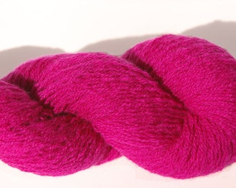100% Cashmere Magenta Magic Lace Weight Recycled Yarn