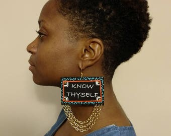 Know Thyself Statement Earrings