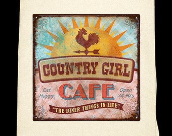 Country Girl Flour Sack towel