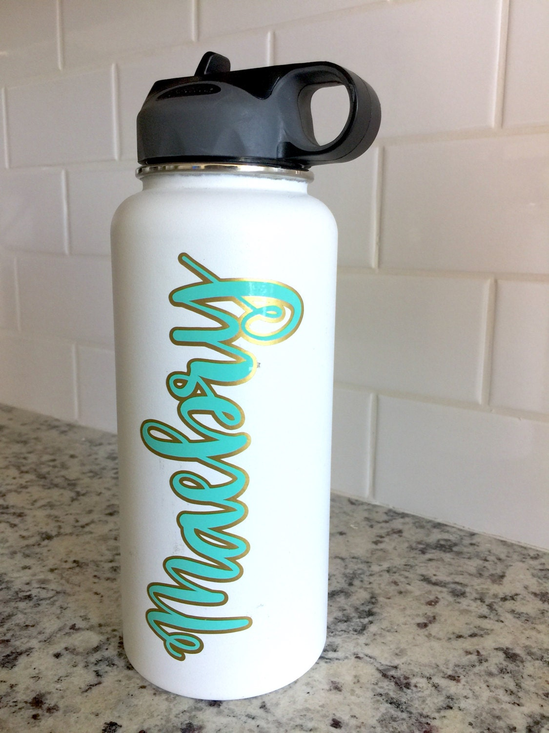 Layered Vinyl Custom Name Decal For Hydro Flask Yeti