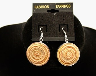 Meyer Lemon colored  dangle earrings