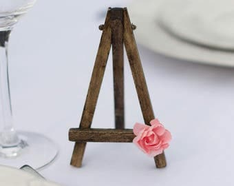 Mini Easel - Rustic Vintage Rose Flower Wedding Party Table Sign
