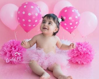 Pink Tutu - Pink Cake Smash Tutu - Photo Shoot Photo Prop Tutu - Birthday Party Pink Tutu