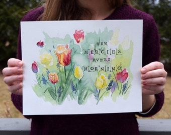 New Mercies - Watercolor Art Print