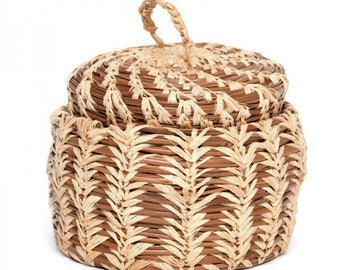 Lidded Pine Basket