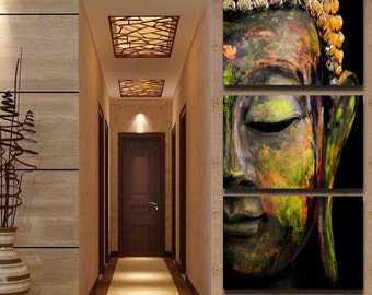 Buddha 3 Piece Framed Wall Canvas