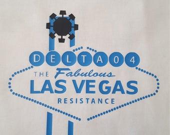 Men's White Las Vegas Resistance Dice T-shirt