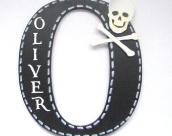 Pirate Painted Letter Personalised