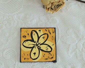 Whimsical & Decorative Pop Art Flower - Yellow