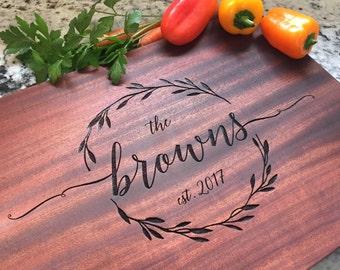 Personalized Cutting Board - Engraved Cutting Board - Custom Cutting Board, Wedding Gift, Housewarming Gift, Anniversary Gift, Wedding Signs