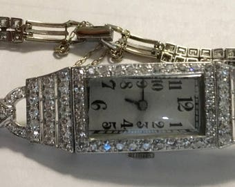 Antique Ladies Diamond Watch