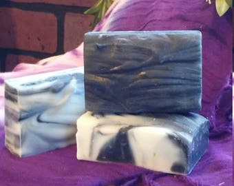 Activated charcoal & Tea tree oil facial bar, Detoxifying Soap, Handmade Soap, Cold Processed Soap
