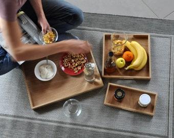 SOLID /Set of 3 oak trays/ .in stock.