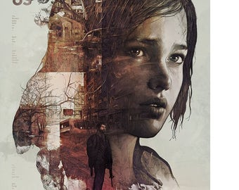 The Last Of Us Ellie Video Game Poster