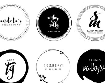 Premade logo, Gold logo, Digital art, Transparent, Logo design, Art Print, custom logo design, branding logo, round logo, circular logo