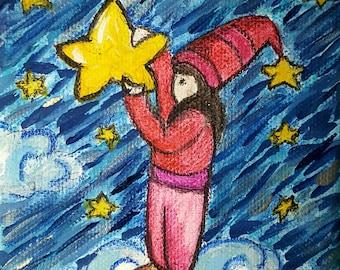 Mini canvas elf dreamer