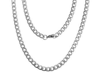 Chain, chain, necklace, stainless steel, solid 55 cm * 86558