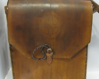 Burnished Brown Adventure Purse handcrafted from leather