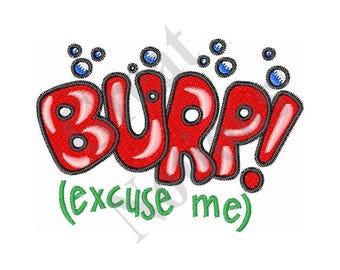 Burp! - Machine Embroidery Design